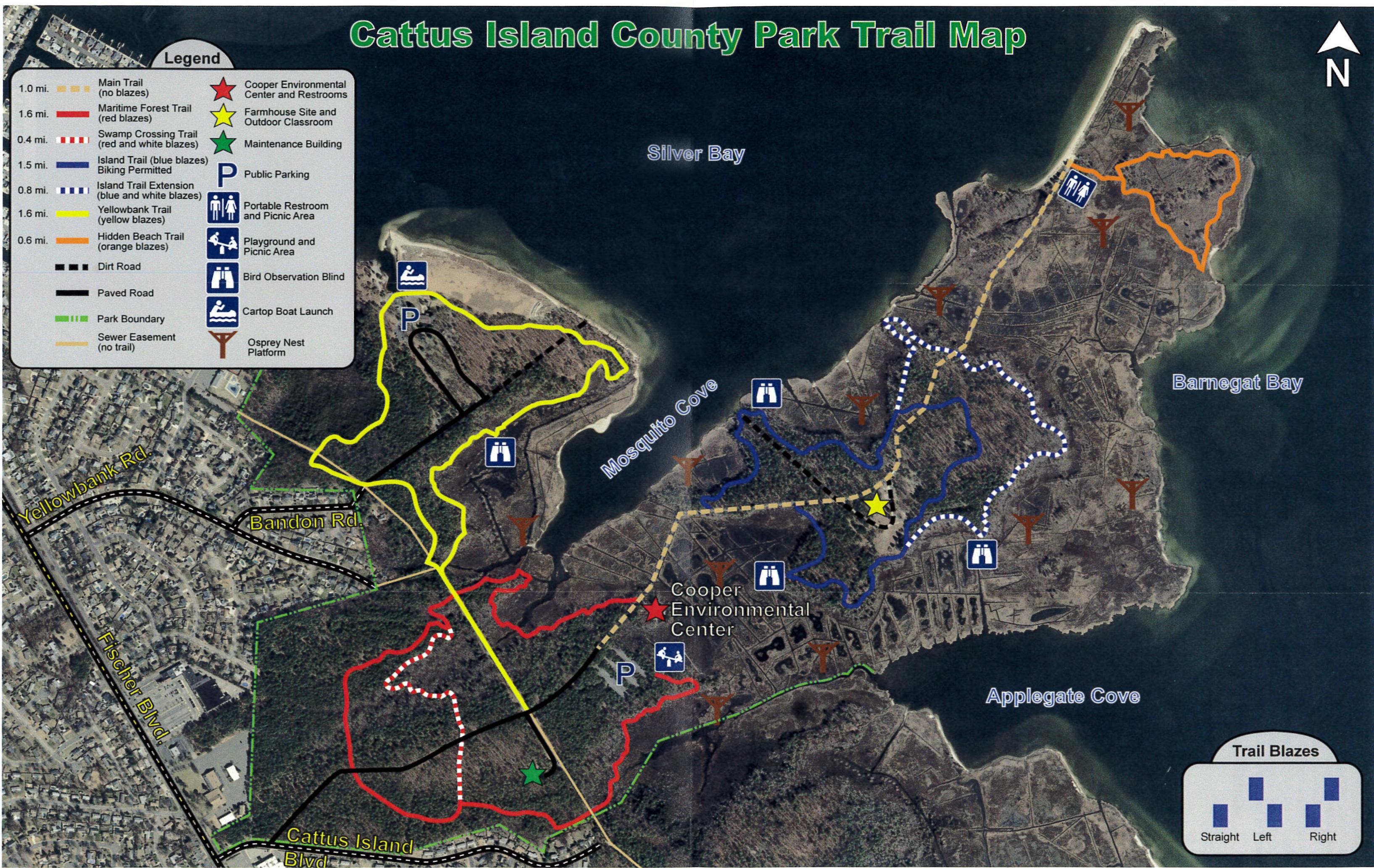Cattus Island Trail Map